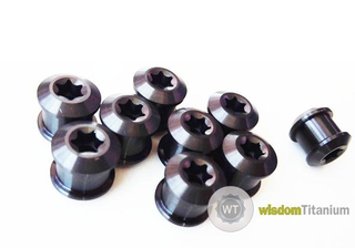 Chainring bolt nut titanium M8