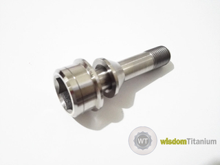 Titanium Ferrari Wheel Lug Bolt 52MM Two Piece Designed