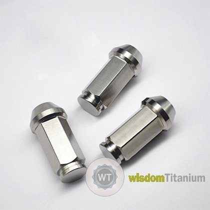 45mm Hex 17mm Titanium Lug Nuts Close Ended