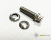 Titanium wheel bolt with washer