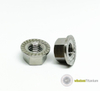 Titanium Hex Nut with Serrated Flange